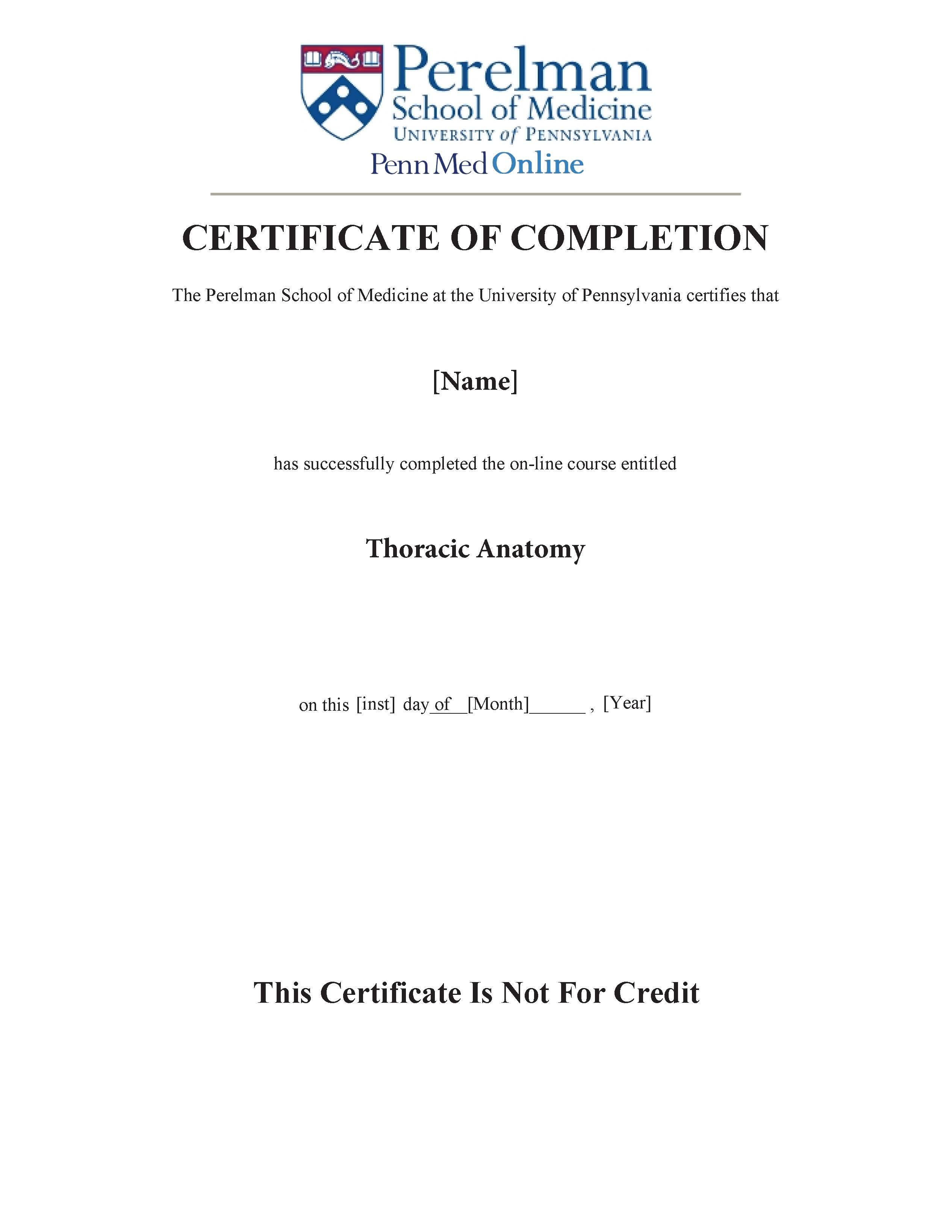 About The Pennmed Online Certificate
